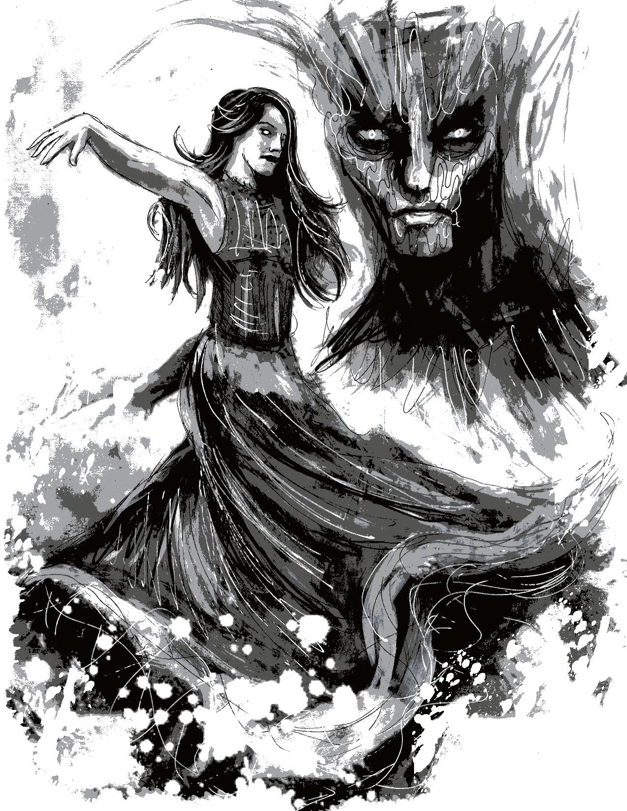 """Illustration for """"A Bottle of Whiskey"""" Copyright (c) 2016, Luke Spooner. Used under license."""