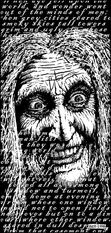 "Illustration for ""Walls of Madness"" Copyright (c) 2016 Bradley K. McDevitt, used under license"