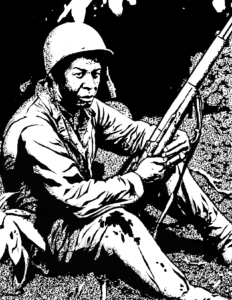 """Illustration for """"The Soldier"""" Copyright (c) 2016 John Waltrip. Used under license."""
