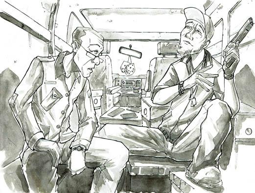 "Illustration to accompany ""Marius and the Scorpion's Nest"" Copyright (c) 2017 Dan MacKinnon. Used under license."