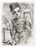 Thumbnail illustration to accompany Bounty Hunter Babysitter. Copyright(c) 2017 by Sheik. Used under license.