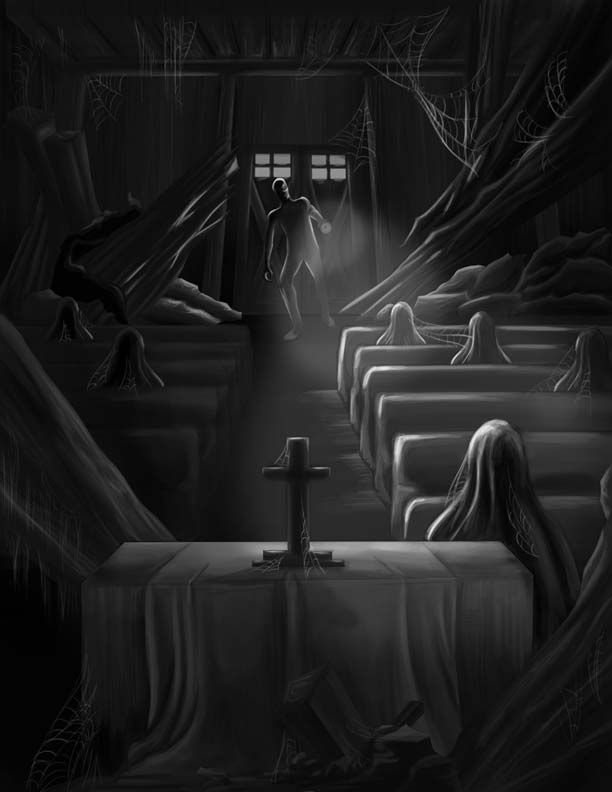 Illustration to accompany Mabel's Church. Copyright(c)2018 by Chlo'e Camonayan. Used under license