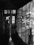 Thumbnail illustration to accompany The Thing at the Door. Copyright(c)2018 by Tim Soekkah. Used under license