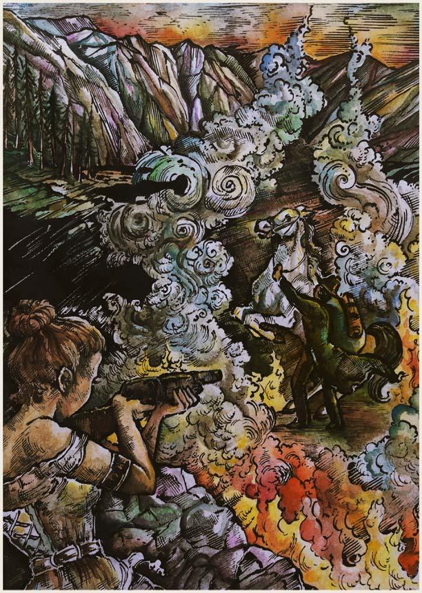 """Fist Full of Fire"" Illustration Copyright (c) 2018 by Karolina Wellartova. Used under license."