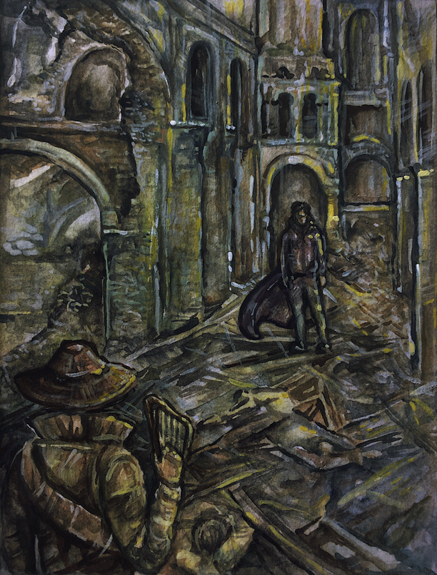 "Illustration for ""Jolly Dom and the Crossroads Inn"" Copyright (c) 2019 Karolína Wellartová. Used under license"