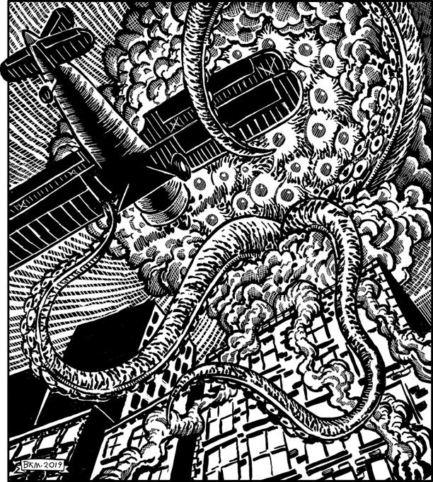 """Illustration for """"A'Khe'Na"""" by Bradkley K. McDevitt. Used under license."""