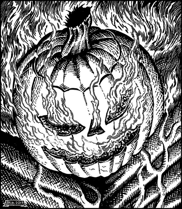 "Illustration for ""30 Days Hath October"" Copyright (c) 2019 by Bradley K. McDevitt. Used under license."
